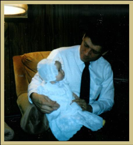 Lauren & Daddy before christening